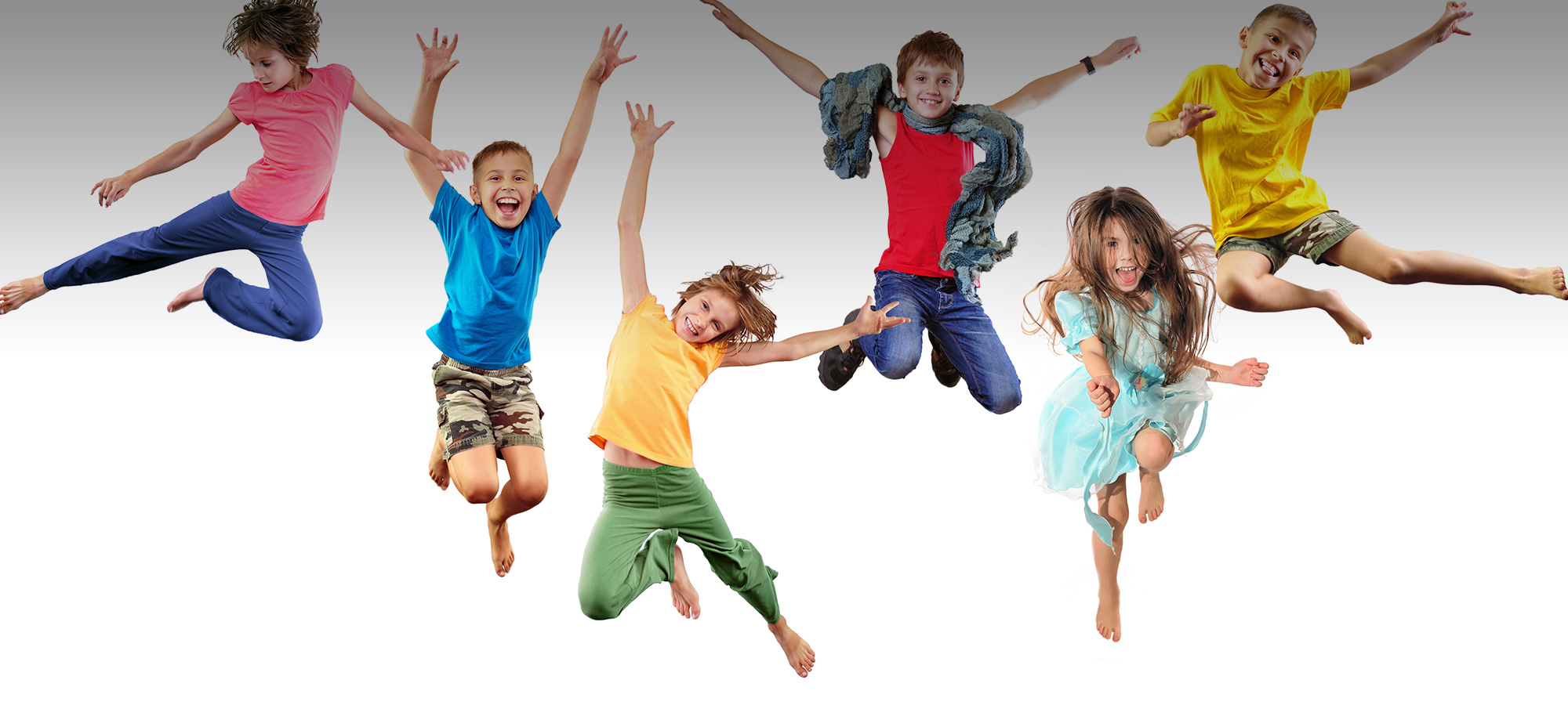 Children jumping for joy